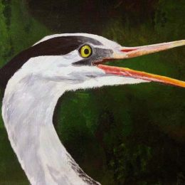 acrylic painting by R. Moxham
