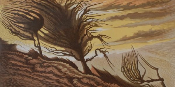 Homeshaw.A. Hillside Silhouette 28:48 £350 W50.5 x H31 Frame 66.5 x 50 White Wood copy
