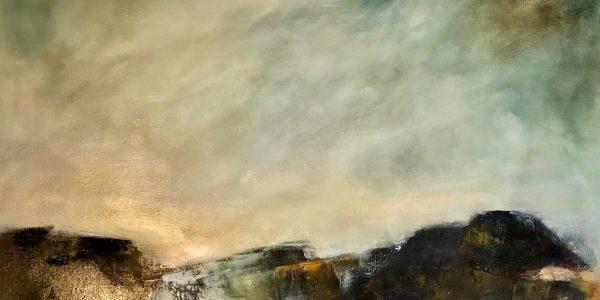 Kirkcaldy Granite Original Oil on canvas £895.00 77 x 59: 95 x 76 White frame